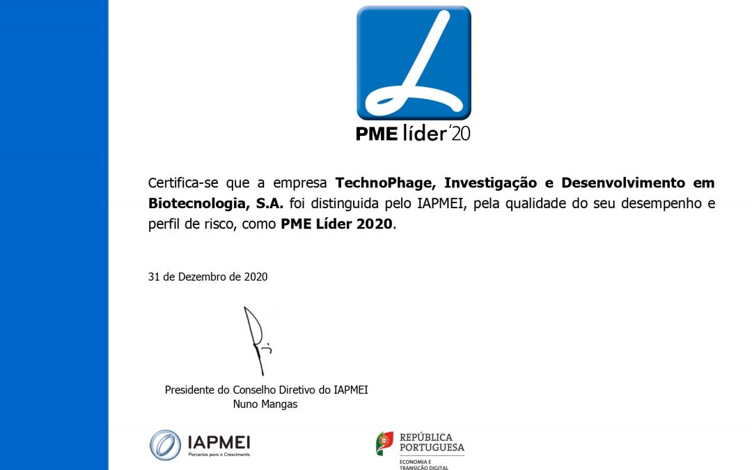 Technophage once again classified as 'PME líder'